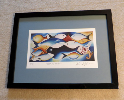 Deep sea fishes - Framed print