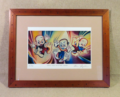 Devil kids - Framed print