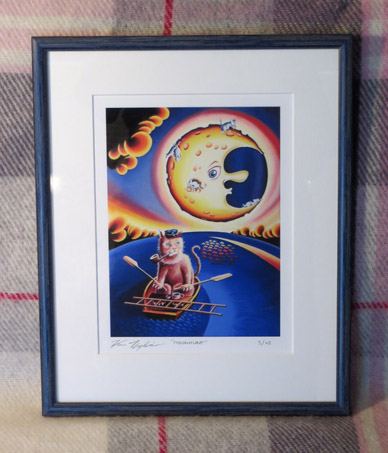 Moonhunt Framed print