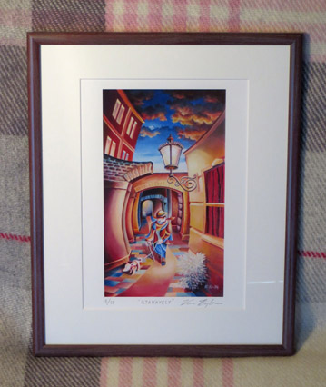 Nightwalk Framed print