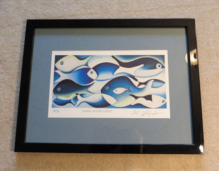 Sleeps with the fishes - Framed print