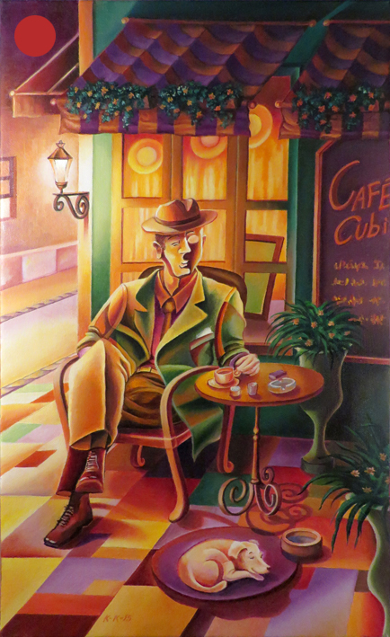 Cubist at the Café