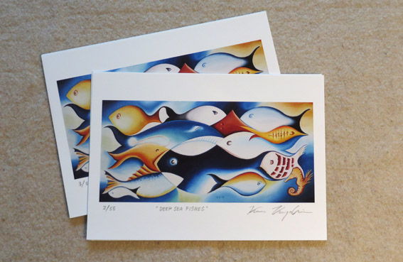 Deep sea fishes print